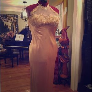 Gold Alfred Angelo Silky Gown, Small